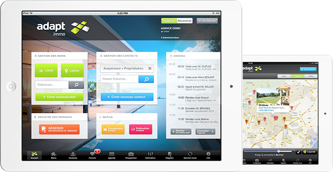 Adapt Immo Logiciel Immobilier sur iPad