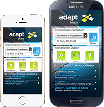 Adapt Immo Logiciel Immobilier sur iPhone